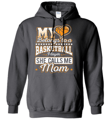 Basketball Mom Shirt - My Heart Belongs To A Basketball Player. She Call Me Mom - Shirt Loft - 2
