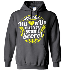 Softball Mom Shirt - You Can Hit On Us But You Won't Score! - Shirt Loft - 3