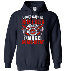 BBQ Shirt - I Just Want To Drink Beer And Smoke some Meat - Shirt Loft - 3