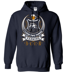Farmer Shirt - I love Two Things, Farming And Beer - Shirt Loft - 4