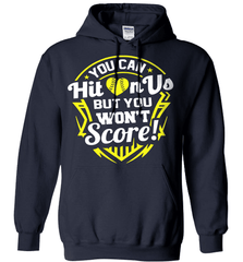 Softball Mom Shirt - You Can Hit On Us But You Won't Score! - Shirt Loft - 4