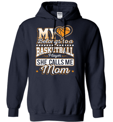 Basketball Mom Shirt - My Heart Belongs To A Basketball Player. She Call Me Mom - Shirt Loft - 3