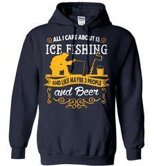 Ice Fishing Shirt - All I Care About Is Ice Fishing - Shirt Loft - 3