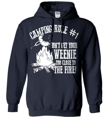 Camping Shirt - Camping Rule #1. Don't Get Your Weenie Too Close To The Fire! - Shirt Loft - 4
