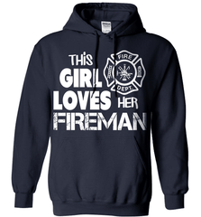 Firefighter Shirt - This Girl Loves Her Fireman - Shirt Loft - 3