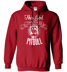 Pit Bull Shirt - This Girl Protected By The Good Lord And A Pit Bull - Shirt Loft - 4