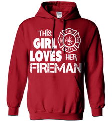 Firefighter Shirt - This Girl Loves Her Fireman - Shirt Loft - 4