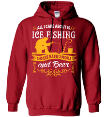 Ice Fishing Shirt - All I Care About Is Ice Fishing - Shirt Loft - 4