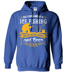 Ice Fishing Shirt - All I Care About Is Ice Fishing - Shirt Loft - 5