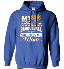 Basketball Mom Shirt - My Heart Belongs To A Basketball Player. She Call Me Mom - Shirt Loft - 4