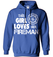 Firefighter Shirt - This Girl Loves Her Fireman - Shirt Loft - 5
