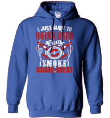 BBQ Shirt - I Just Want To Drink Beer And Smoke some Meat - Shirt Loft - 4