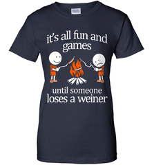 Camping Shirt - It Is All Fun And Games Until Someone Loses A Wiener - Shirt Loft - 10