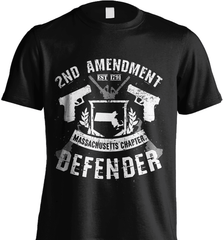 Gun Shirt - 2nd Amendment Massachusetts Chapter Defender - Shirt Loft - 2