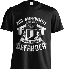 Gun Shirt - 2nd Amendment Indiana Chapter Defender - Shirt Loft - 2