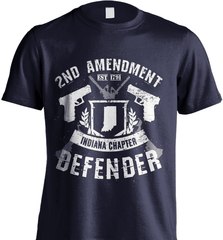 Gun Shirt - 2nd Amendment Indiana Chapter Defender - Shirt Loft - 6