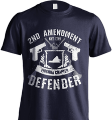 Gun Shirt - 2nd Amendment Virginia Chapter Defender - Shirt Loft - 6
