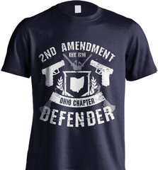 Gun Shirt - 2nd Amendment Ohio Chapter Defender - Shirt Loft - 6