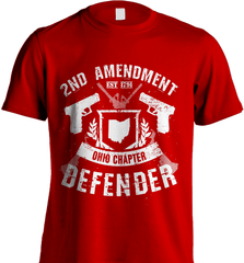 Gun Shirt - 2nd Amendment Ohio Chapter Defender - Shirt Loft - 7