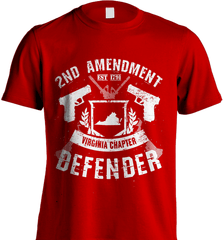 Gun Shirt - 2nd Amendment Virginia Chapter Defender - Shirt Loft - 7