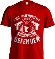 Gun Shirt - 2nd Amendment Minnesota Chapter Defender - Shirt Loft - 7