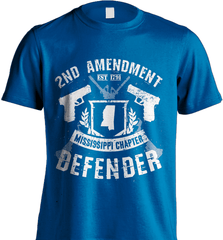 Gun Shirt - 2nd Amendment Mississippi Chapter Defender - Shirt Loft - 8