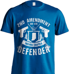 Gun Shirt - 2nd Amendment Indiana Chapter Defender - Shirt Loft - 8