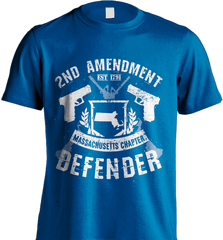Gun Shirt - 2nd Amendment Massachusetts Chapter Defender - Shirt Loft - 8