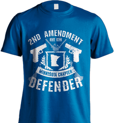 Gun Shirt - 2nd Amendment Minnesota Chapter Defender - Shirt Loft - 8