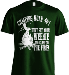 Camping Shirt - Camping Rule #1. Don't Get Your Weenie Too Close To The Fire! - Shirt Loft - 6