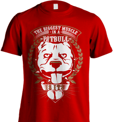 Pit Bull Shirt - The Biggest Muscle Is The Heart - Shirt Loft - 7
