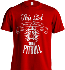 Pit Bull Shirt - This Girl Protected By The Good Lord And A Pit Bull - Shirt Loft - 7