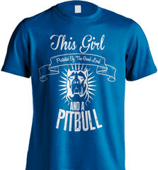 Pit Bull Shirt - This Girl Protected By The Good Lord And A Pit Bull - Shirt Loft - 8