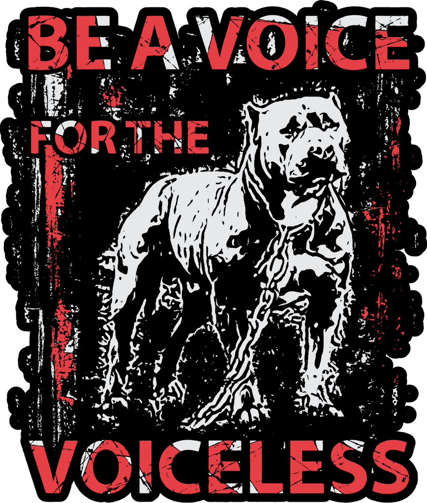 Free Pit Bull Sticker: Be A Voice For The Voiceless - Bonus 2-Pack! - Shirt Loft