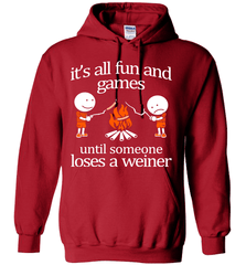 Camping Shirt - It Is All Fun And Games Until Someone Loses A Wiener - Shirt Loft - 4