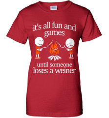 Camping Shirt - It Is All Fun And Games Until Someone Loses A Wiener - Shirt Loft - 11