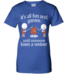 Camping Shirt - It Is All Fun And Games Until Someone Loses A Wiener - Shirt Loft - 12