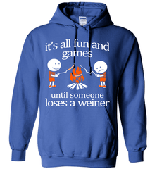 Camping Shirt - It Is All Fun And Games Until Someone Loses A Wiener - Shirt Loft - 5