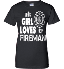 Firefighter Shirt - This Girl Loves Her Fireman - Shirt Loft - 9