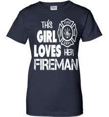 Firefighter Shirt - This Girl Loves Her Fireman - Shirt Loft - 10