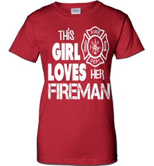 Firefighter Shirt - This Girl Loves Her Fireman - Shirt Loft - 11