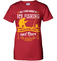 Ice Fishing Shirt - All I Care About Is Ice Fishing - Shirt Loft - 11
