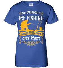 Ice Fishing Shirt - All I Care About Is Ice Fishing - Shirt Loft - 12
