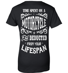 Biker Shirt - Time Spent On A Motorcycle Is Not Deducted From Your Lifespan - Shirt Loft - 9