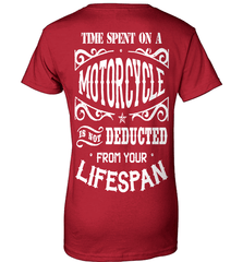 Biker Shirt - Time Spent On A Motorcycle Is Not Deducted From Your Lifespan - Shirt Loft - 11