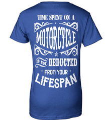 Biker Shirt - Time Spent On A Motorcycle Is Not Deducted From Your Lifespan - Shirt Loft - 12