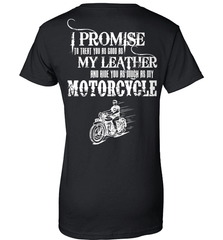 Biker Shirt - I Promise To Treat You As Good As My Leather And Ride You As Much as My Motorcycle - Shirt Loft - 9
