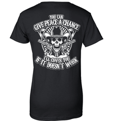 Gun Shirt - You Can Give Peace A Chance. I Will Cover You If It Doesn't Work - Shirt Loft - 9