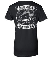 Gun Shirt - These Are My Rights And I Am Keeping Them (Design on The Back) - Shirt Loft - 9
