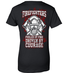 Firefighter Shirt - Firefighters: Fueled By Fire, Driven By Courage - Shirt Loft - 9